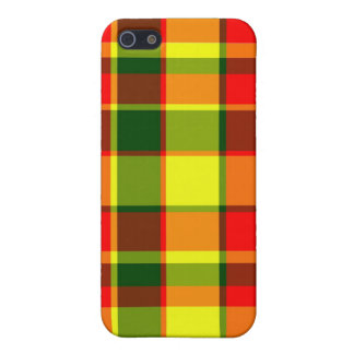 R/G/Y Plaid iPhone 5 Case