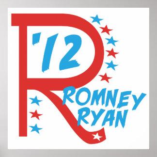 R grande Romney Ryan Posters