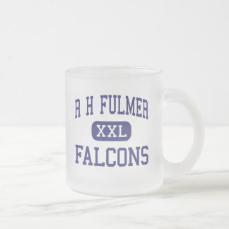 R H Fulmer Falcons Middle West Columbia 10 Oz Frosted Glass Coffee Mug