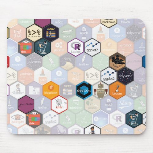 R hex mouse pad