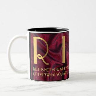 R  I  C  H Two-Tone COFFEE MUG