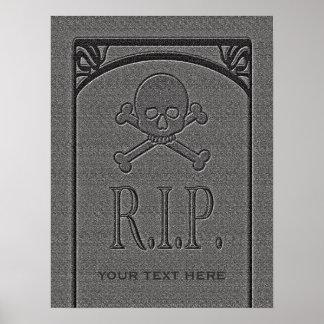 R.I.P. Custom Name Gravestone Halloween Props Poster