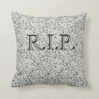 R.I.P. Faux Engraved Granite Headstone Pillows