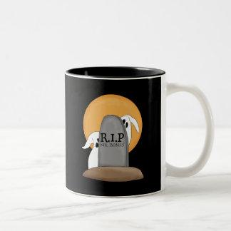 R.I.P Ghosts Halloween Fun Two-Tone Coffee Mug