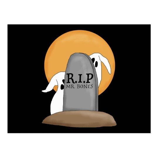 R.I.P Ghosts Halloween Fun Postcard