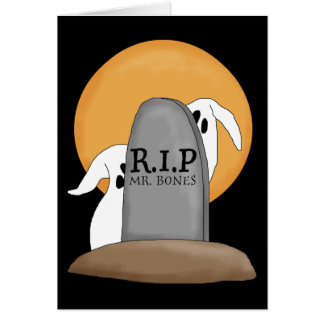 R.I.P Ghosts Halloween Fun Stationery Note Card
