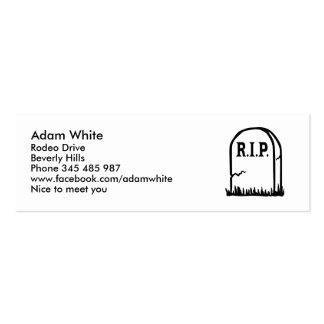 R.I.P. - Gravestone Business Cards
