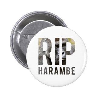 R.I.P Harambe Badge Button