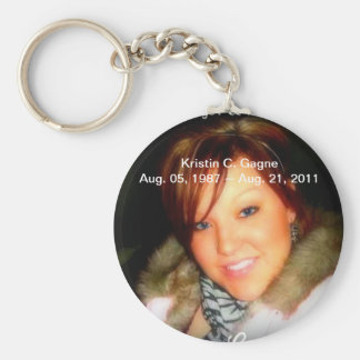 R.I.P. Kristin C. Gagne Basic Round Button Keychain