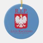 R.I.P. Lech Kaczynski Ornamento Para Arbol De Navidad
