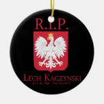 R.I.P. Lech Kaczynski Ornamentos De Navidad