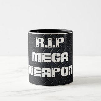 R.I.P MEGAWEAPON Two-Tone COFFEE MUG