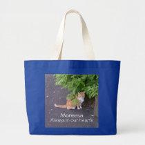 R.I.P. Pet Memorial -  cat shown Large Tote Bag