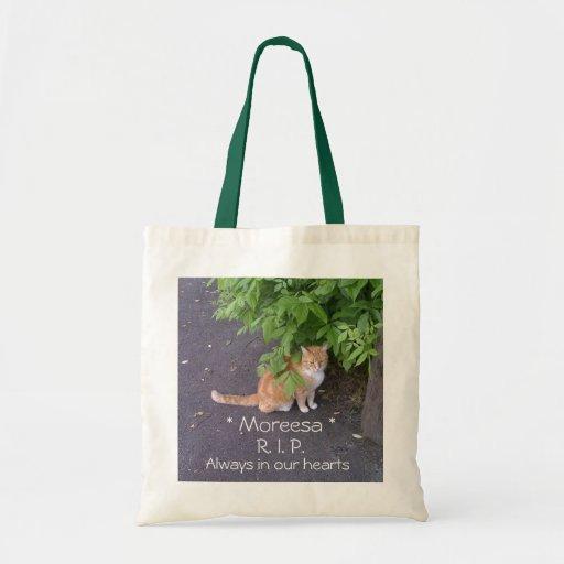 R.I.P. Pet Memorial (cat shown) Tote Bag