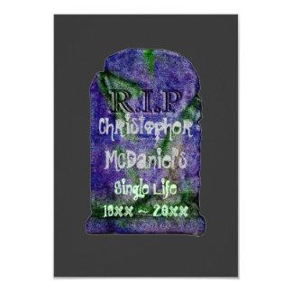 """R.I.P Single Life""- Bachelor Party (blue marker) Card"