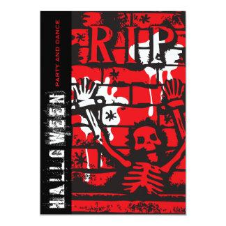 "R.I.P Skeleton Halloween Party Invitation 5"" X 7"" Invitation Card"