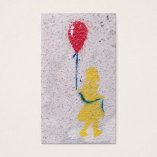 r.i.p. stencil : girl with the red balloon business card