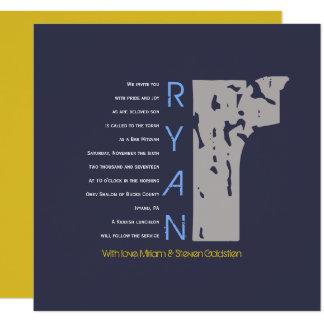 R Initial Collection Bat Bar Mitzvah Invitation