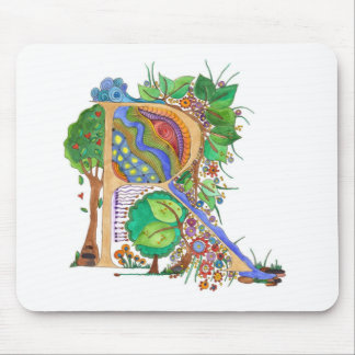R, initial, monogram, wedding mouse pad