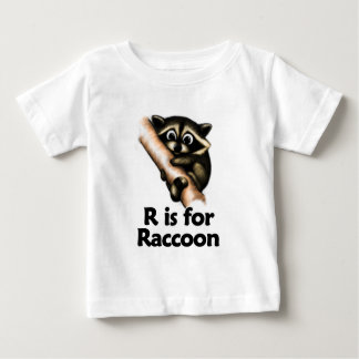 R is for Raccoon Baby T-Shirt