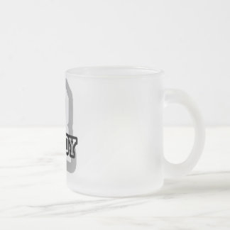 R is for Randy 10 Oz Frosted Glass Coffee Mug