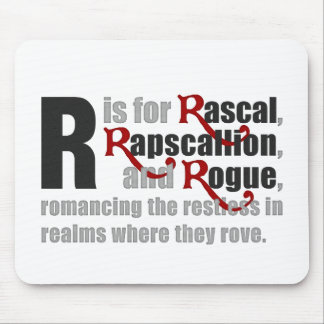 R is for Rascal White Mousepad