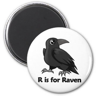 R is for Raven 2 Inch Round Magnet