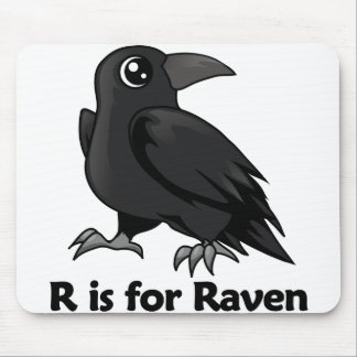 R is for Raven Mousepads