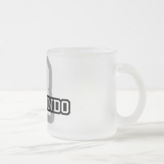 R is for Raymundo Frosted Glass Coffee Mug