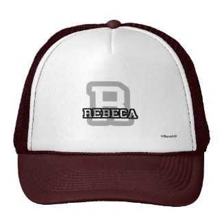 R is for Rebeca Hats