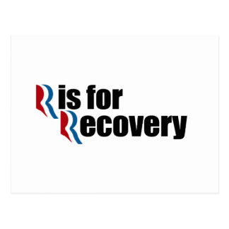 R IS FOR RECOVERY png Postcard