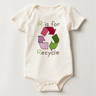 R is for Recycle Organic Baby Baby Bodysuit