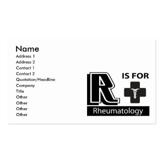 R Is For Rheumatology Business Card