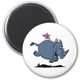 R is for Rhino 2 Inch Round Magnet