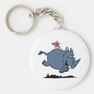 R is for Rhino Keychain