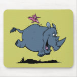 R is for Rhino Mouse Pad