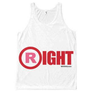R IS FOR RIGHT - Politiclothes Humor --.png All-Over Print Tank Top