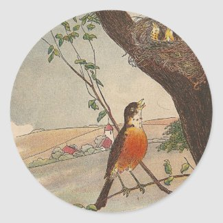 R is for Robin sticker