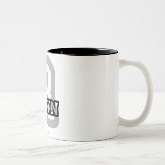 R is for Robyn Two-Tone Coffee Mug