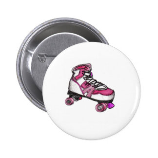 R is for Rollerskate 2 Inch Round Button