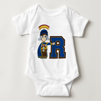 R is for Roman Soldier Baby Bodysuit