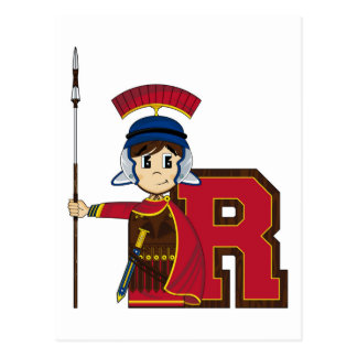 R is for Roman Soldier Postcard