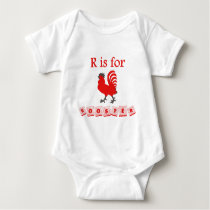 R Is For Rooster Baby Bodysuit