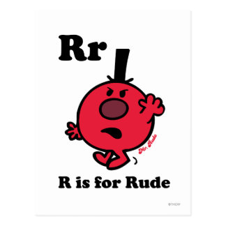R is for Rude Postcard