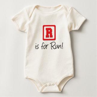 R Is For Run Baby Bodysuit