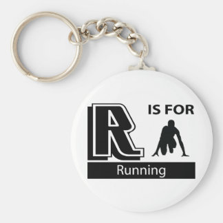 R Is For Running Keychain