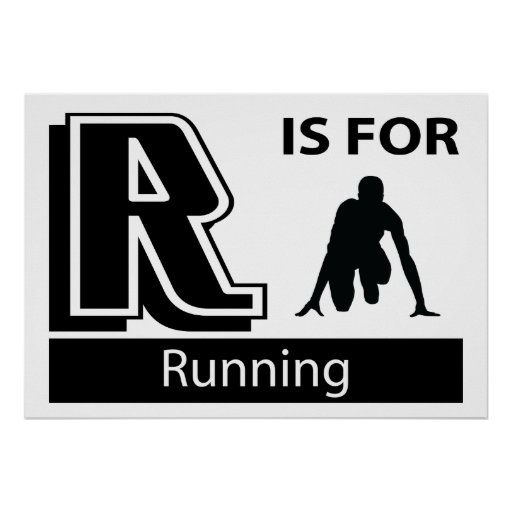 R Is For Running Print