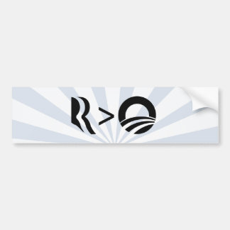 R IS GREATER THAN O-.png Bumper Sticker