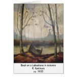 R.J. Ketchum - barco en a a orillas del lago en ot Tarjeton