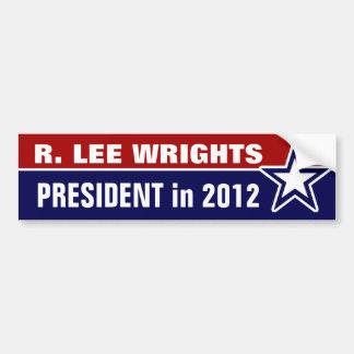 R Lee Wrights en 2012 Etiqueta De Parachoque